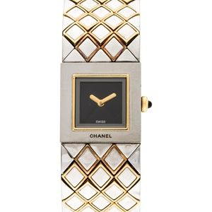 CHANEL Matelassé 18k Yellow Gold Watch